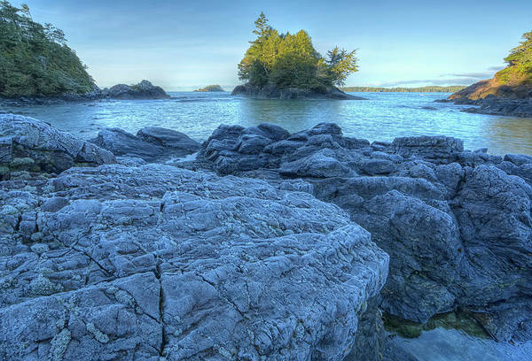 Vancouver Island Photograph - Frost Covered Rocks Along Mackenzie by Robert Postma / Design Pics
