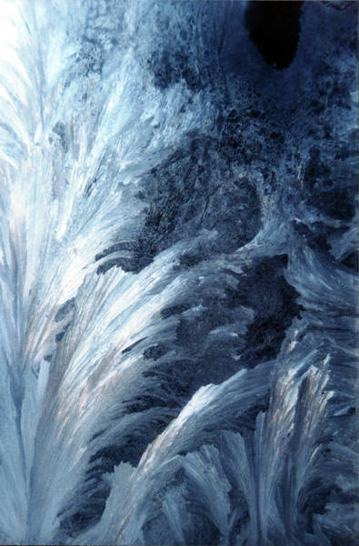 Photograph - Frost On Window - Northern Ontario Canada by Rick Veldman