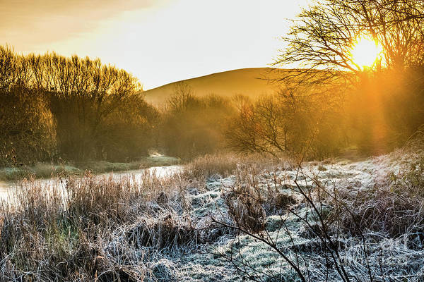 Photograph - Frosty Dawn On The River Rheidol by Keith Morris