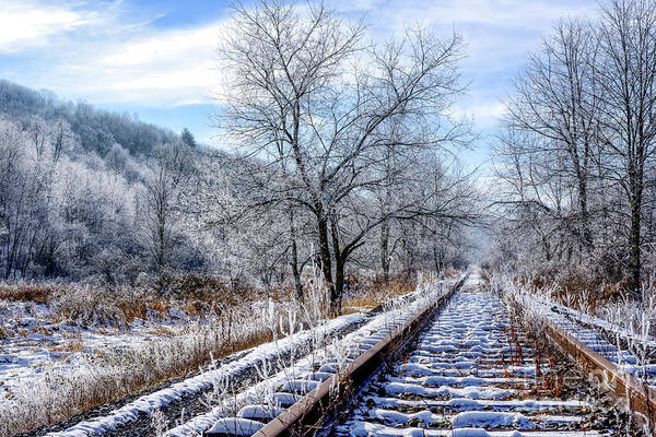 Railroad Tie Wall Art - Photograph - Frosty Morning On The Railroad by Thomas R Fletcher