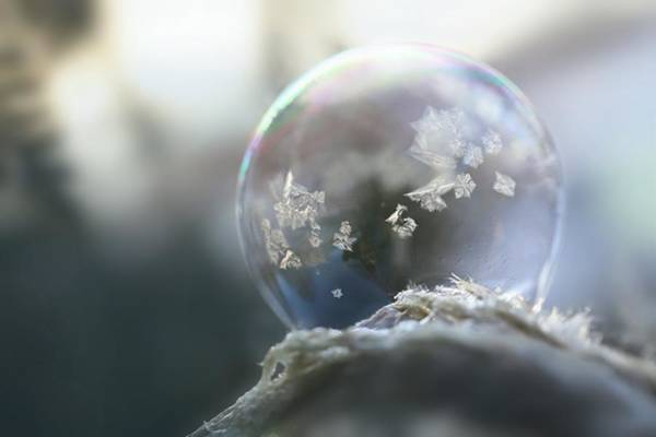 Wall Art - Photograph - Frosty Soap Bubble 14 by Heike Hultsch