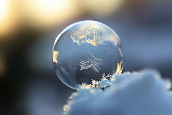 Wall Art - Photograph - Frosty Soap Bubble 9 by Heike Hultsch