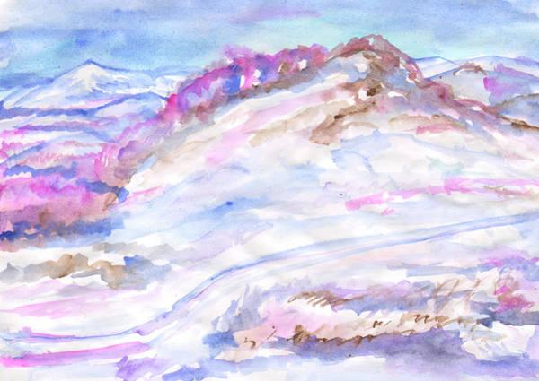 Painting - Frosty Winter Landscape by Irina Dobrotsvet