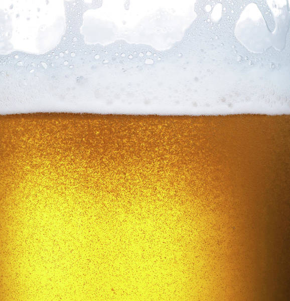 Alcohol Photograph - Froth On Beer by Level1studio