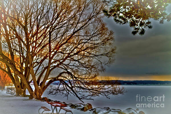 Photograph - Frozen Canandaigua Lake At Dawn by William Norton