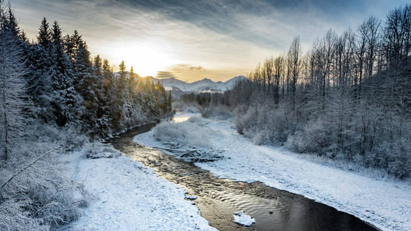 Photograph - Frozen Creek by Framing Places