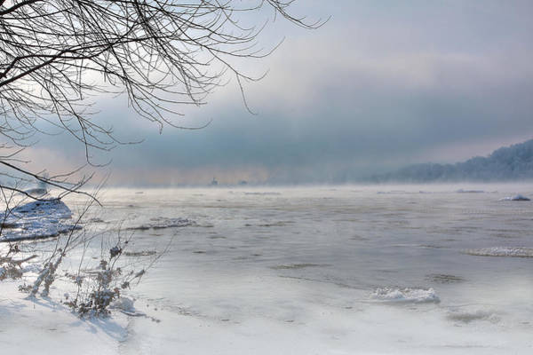 Frozen River Digital Art - Frozen Fog by Sharon Batdorf