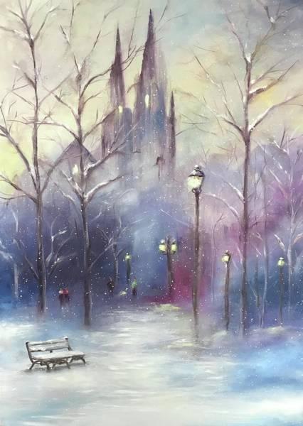 Park Bench Digital Art - Frozen Intime  by Amy Ledbetter