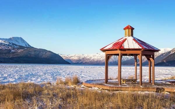 Photograph - Frozen Pavillion by Framing Places