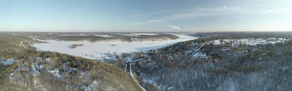 Houlton Photograph - Frozen Snow Covered St. Croix River Valley Stillwater by Pictures Over Stillwater
