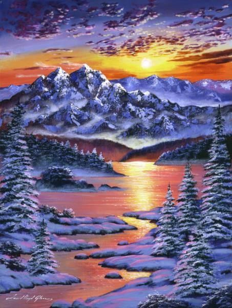 Painting - Frozen Sunset by David Lloyd Glover