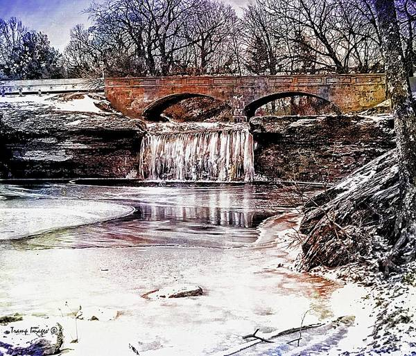Digital Art - Frozen Tryst Falls by Wesley Nesbitt