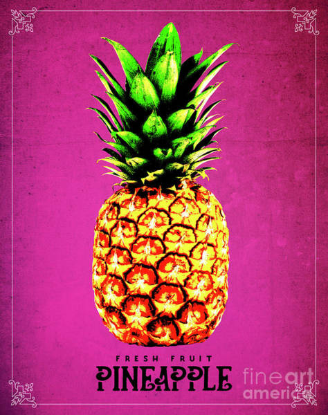 Pineapples Digital Art - Fruit 04_pineapple by Bobbi Freelance