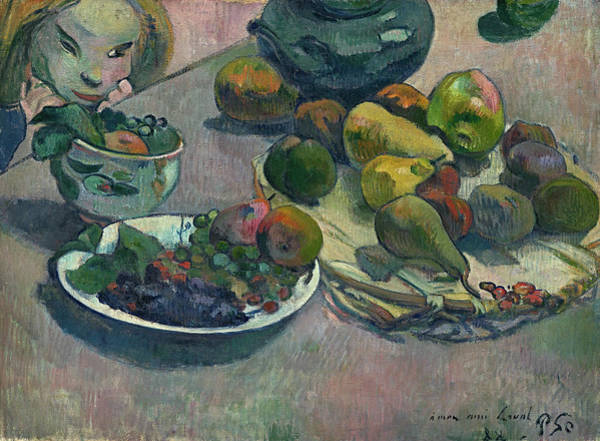 Wall Art - Painting - Fruit, 1888 by Paul Gauguin