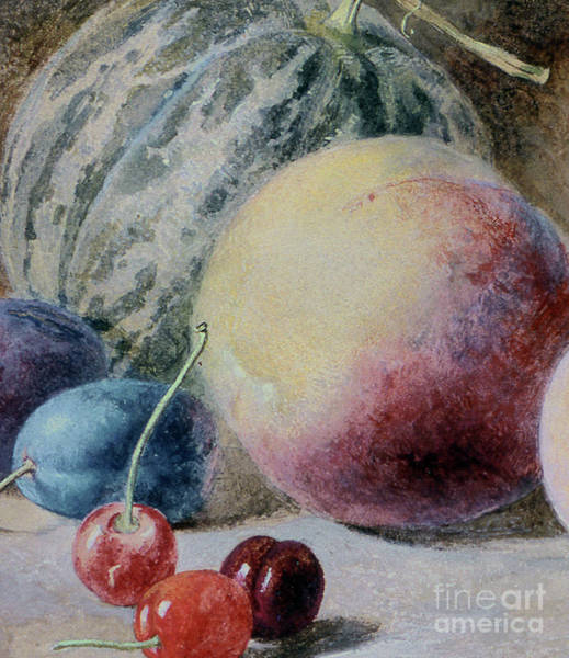 Wall Art - Painting - Fruit, 19th Century by Thomas Collier