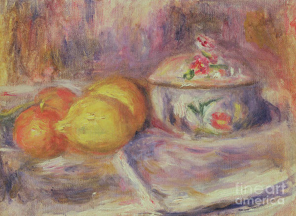 Wall Art - Painting - Fruit And Bonbonniere, After 1914 by Pierre Auguste Renoir