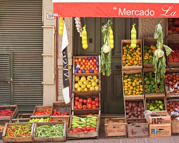 Montevideo Wall Art - Photograph - Fruit And Vegetable Stand, Montevideo by Ashok Sinha
