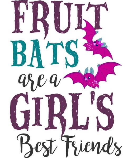 Trick Or Treat Digital Art - Fruit Bat Conservation Halloween Flying Fox Women Light by Nikita Goel