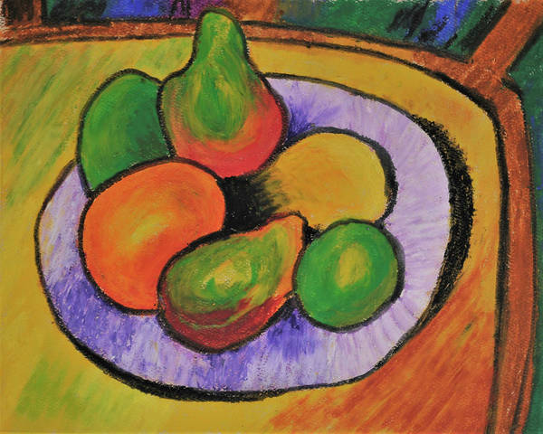 Tapestry - Textile - Fruit Bowl After Cezanne by Howard Bagley