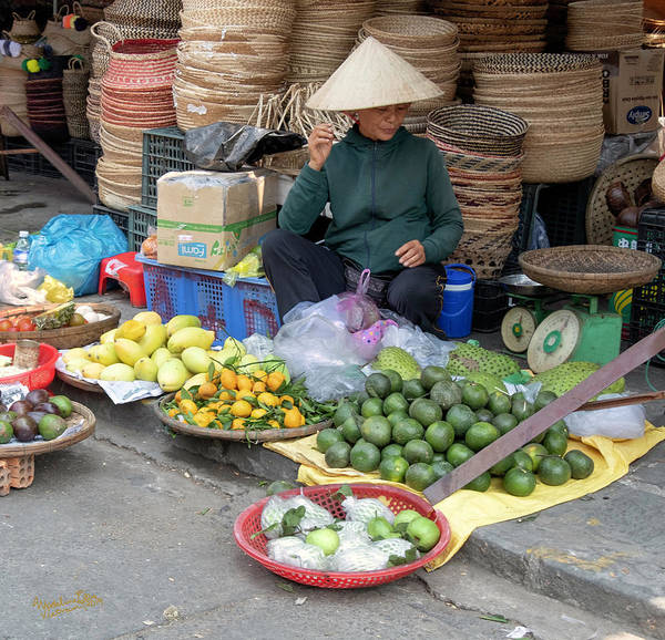 Wall Art - Photograph - Fruit Market Woman 2, Vietnam by Madeline Ellis