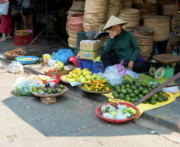 Wall Art - Photograph - Fruit Market Woman, Vietnam by Madeline Ellis