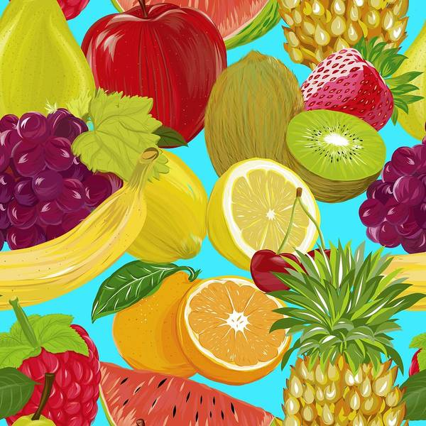 Wall Art - Painting - Fruit Mix by ArtMarketJapan