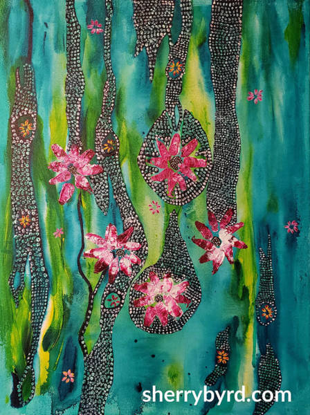Sherry Byrd Wall Art - Painting - Fruit Of The Vine by Sherry Byrd