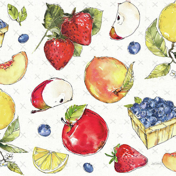 Wall Art - Painting - Fruit Stand Pattern I by Anne Tavoletti