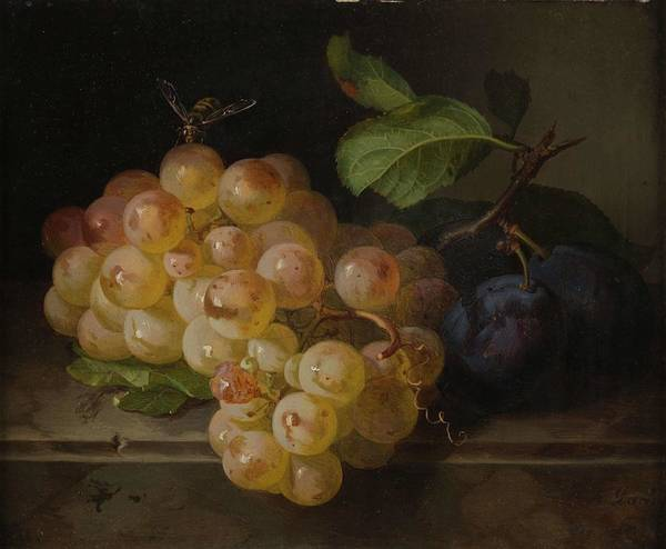 Wall Art - Painting - Fruit Still Life With Bee  By Andreas Lach by Andreas Lach