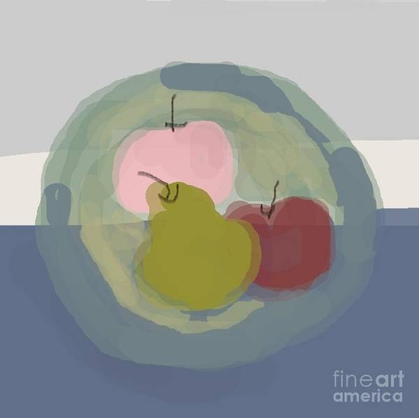 Wall Art - Painting - Fruits On The Plate - Abstract Art By Vesna Antic by Vesna Antic