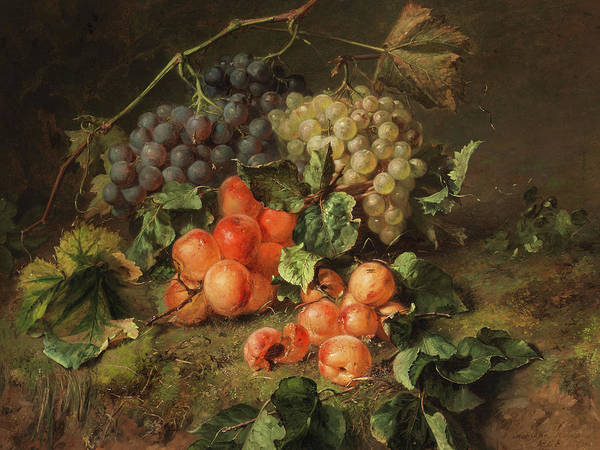 In Service Painting - Fruits Still Life by Adriana Johanna Haanen