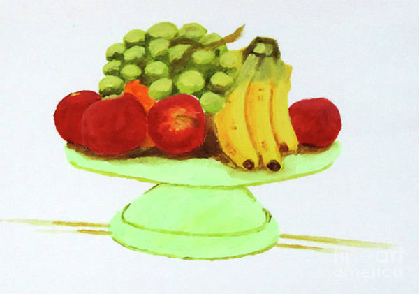 Apple Peel Painting - Fruity Positions by Stephen Brooks