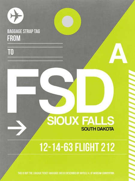 Sioux Wall Art - Digital Art - Fsd Sioux Falls Luggage Tag II by Naxart Studio