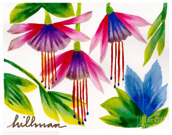 Wall Art - Painting - Fuchsia Dance by A Hillman