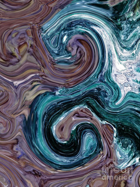 Digital Art - Fuchsite And Dried Lavender Alchemy by Rachel Hannah