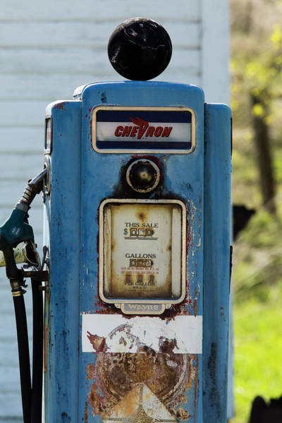 Wall Art - Photograph - Fuel Pump At Old Gas Station, Palouse by Panoramic Images