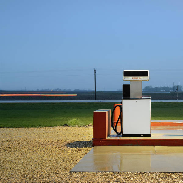 Pump Photograph - Fuel Pump In A Deserted Gas Station by Mecky