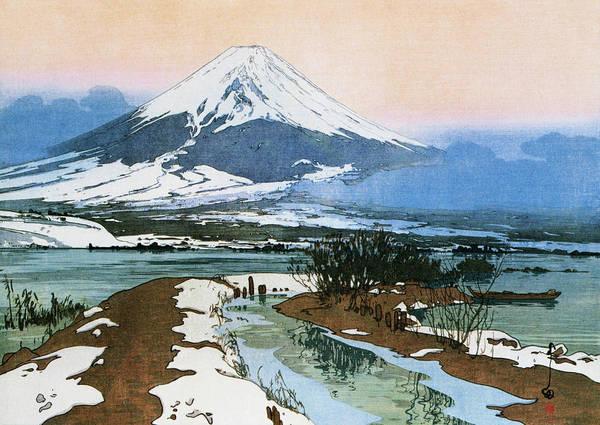 Wall Art - Painting - Fuji 10view, Kawaguchi Lake - Digital Remastered Edition by Yoshida Hiroshi