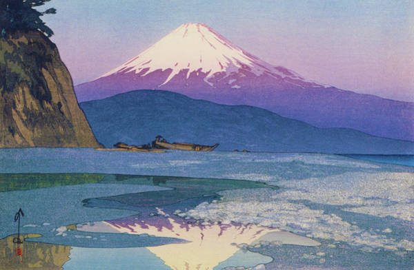 Mountain Lake Painting - Fuji 10view, Okitsu - Digital Remastered Edition by Yoshida Hiroshi
