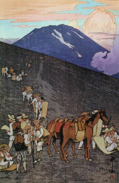 Wall Art - Painting - Fuji 10view, Umagaeshi - Digital Remastered Edition by Yoshida Hiroshi