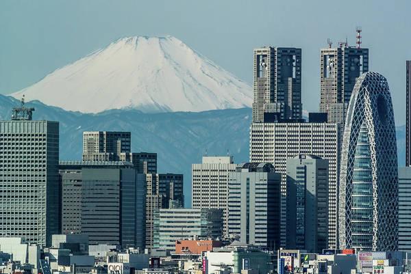 Japanese Culture Photograph - Fuji Over Shinjuku by I Love Photo And Apple.