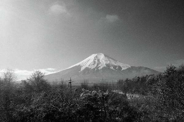 Scenery Photograph - Fujisan Injapan by B&w Landscape Street