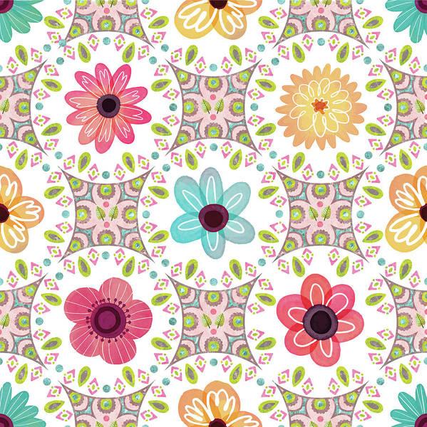 Wall Art - Digital Art - Full Bloom Pattern II by Nd Art