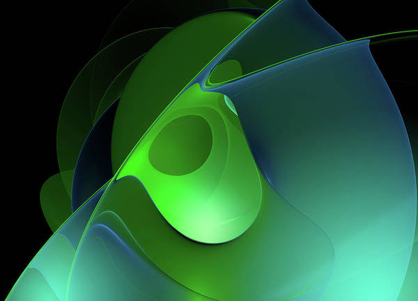 Wall Art - Photograph - Full Frame Green And Blue Abstract by Ikon Images