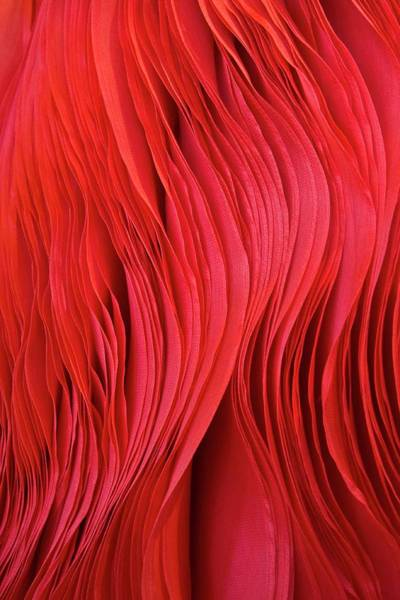 Full Frame Photograph - Full Frame Red Fabric by Gerard Hermand
