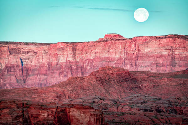 Photograph - Full Moon And A Horseshoe by Laura Hedien