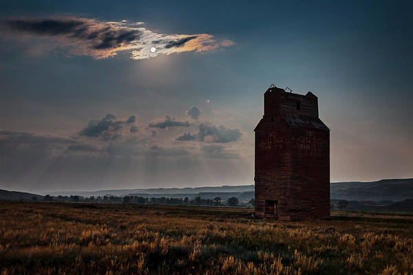 Wall Art - Photograph - Full Moon And Mars Rising Over An by Alan Dyer