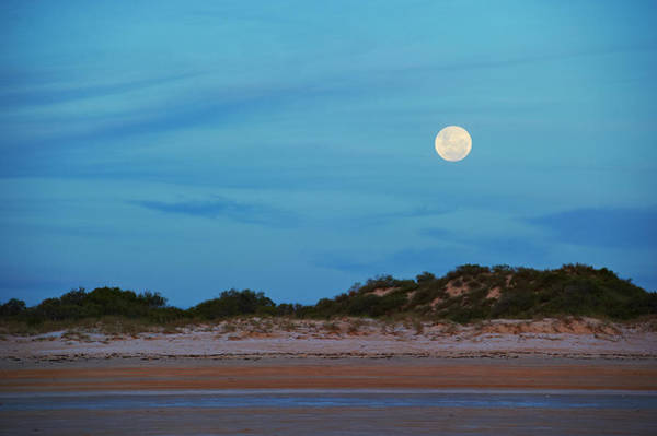 Broome Photograph - Full Moon At Cable Beach by Frances Andrijich