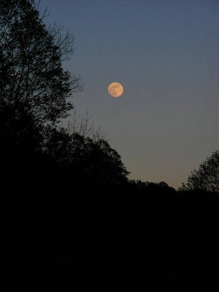 Photograph - Full Moon During Blue Hour Over The Vt At by Raymond Salani III