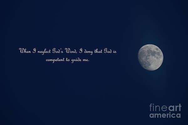 Photograph - Full Moon - God's Word by Dale Powell